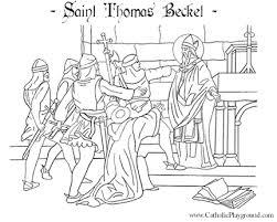 saint thomas becket coloring december 29th u2013 catholic playground