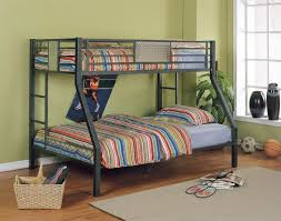 Metal Bunk Bed With Desk Modern Metal Bunk Beds Twin Over Full For Elegant Bedroom Decor