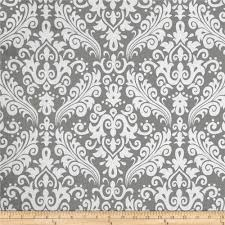 riley blake large damask gray discount designer fabric fabric com