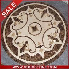 interior design marble floor medallion from china