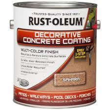 Home Depot Wood Stain Colors by Rust Oleum Concrete Stain 1 Gal Sahara Decorative Concrete