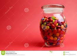 chocolate candy in a glass jar stock photo image 45754439