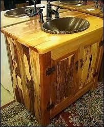 cabin bathroom ideas aweinspiring log bathroom vanity inspiring rustic bathroom ideas