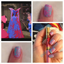 a little sparkle and polish disney nail art challenge aurora