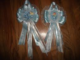 custom baby shower corsages mom to be dad to be by sarasfavors
