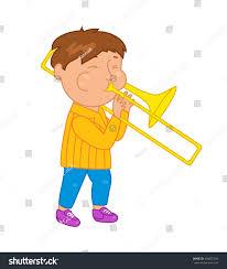 cartoon musician kid vector illustration children stock vector