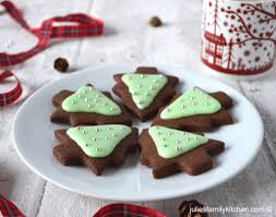 chocolate and peppermint christmas tree cookies julie u0027s family