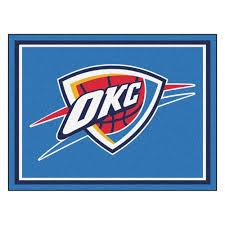 Area Rugs Oklahoma City Fanmats Nba Oklahoma City Thunder Blue 8 Ft X 10 Ft Indoor Area
