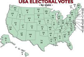 in us map u s electoral vote map