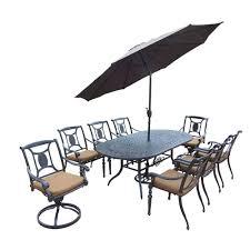 oval aluminum patio table belmont 9 piece oval aluminum patio dining set with sunbrella canvas