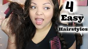 haircuts for frizzy curly hair cute u0026 easy heatless hairstyles wavy frizzy hair youtube