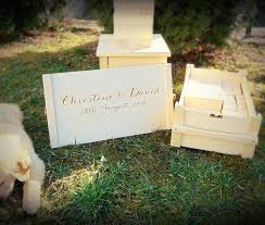 engravable wedding guest book wood storage for jenga custom engraved wood box alternative