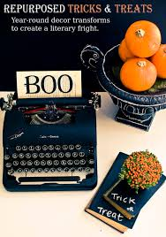 Vintage Halloween Decor Repurposed Tricks U0026 Treats Halloween Decor Ideas Poetic Home