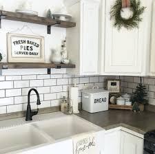 kitchen backsplash cast iron farmhouse sink brick kitchen
