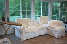 Sunroom Furniture Ideas by Furniture Cozy White Wirh Armset And Slipcover Sunroom Furniture