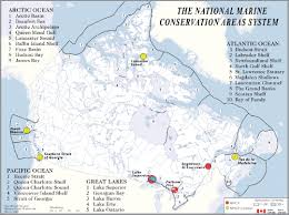 Canada National Parks Map by Parks Canada Responsibilities