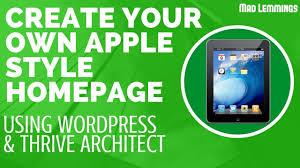 create a stunning apple style homepage on wordpress youtube