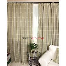 Brown Linen Curtains Novelty Classic Square Brown Faux Linen Eco Friendly Curtains
