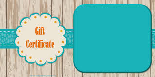 certificate blank gift certificate template