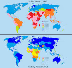 Gulf Countries In World Map by The Astounding Drop In Global Fertility Rates Between 1970 And