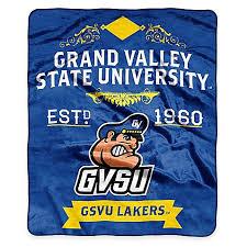 ncaa grand valley state university super plush raschel throw