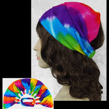 wholesale headbands wholesale rainbow spiral tie dye elastic bandana headband