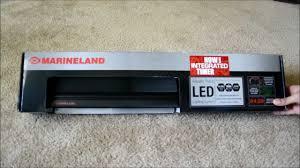 marineland aquatic plant led lighting system w timer 48 60 marineland aquatic plant led light fixture unboxing youtube