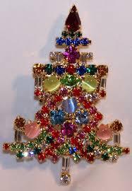rhinestone christmas tree pin candle tree pin cat u0027s eyes stones