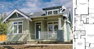 7 craftsman style floor plans under 1000 square feet