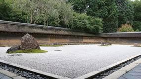 zen rock garden in ryoanji temple stock image image 47993011