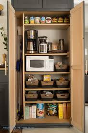how to create a coffee station within a small pantry bigger than
