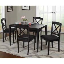 furniture mesmerizing cheap dinette sets with immaculate impressive black square cheap dinette sets and black dining chairs plus grey wall paint color and