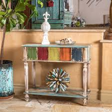 colored coffee tables everest 2 drawer multi colored wood console table by christopher