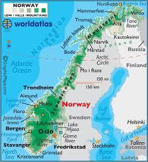 map northern europe scandinavia landforms map