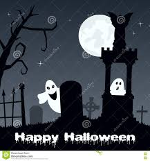 dark halloween background scary halloween background with cemetery in the dark night stock