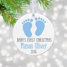 personalized baby christmas ornament footprints personalized baby christmas ornament personalized