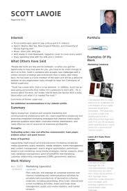 marketing specialist resume samples visualcv resume samples database