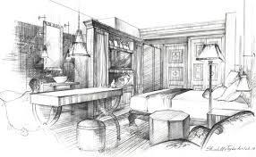 interior design sketch interior design pencil drawing architectural sketches rendering