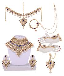 jewelry designs necklace sets images Lucky jewellery designer multicolour cz stone with pearl alloy jpg