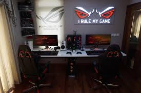 gaming office setup welcome to my republic rog gaming setup gaming setup