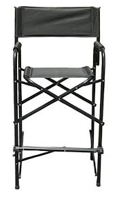 amazon com impact canopy tall directors chair black aluminum