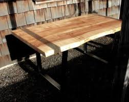 Raw Edge Table by Live Edge Desk Etsy