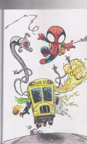 some colored pages from skottie young and marvel u0027s young marvel