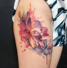 watercolor lotus tattoo love this watercolor tattoo tattoos ideas ॐ pinterest