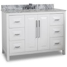 48 single sink vanity with backsplash 48 inch white finish single sink bathroom vanity carrera marble