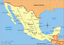 United States And Mexico Map by Geography And Environment History Government And Economics