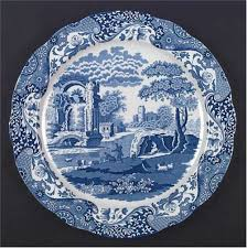 blue italian service plate charger by spode at replacements ltd