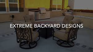Patio Furniture In Ontario Ca by Eastvale Patio Furniture Extreme Backyard Designs Youtube