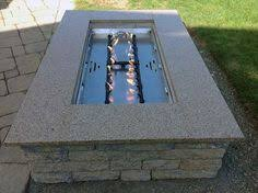 Fire Pit Burners by Ready To Finish Fire Pit Table With Dual Linear 350k Btu Crossfire