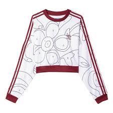adidas crop top sweater originals x ora color paint crop sweatshirt